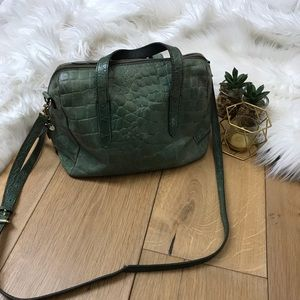 Fossil Green Pebbled Handbag